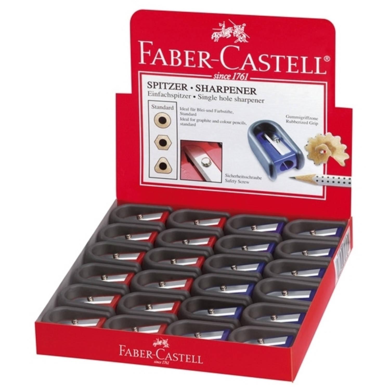Korting Puntenslijper Faber Castell Rood blauw Enkel