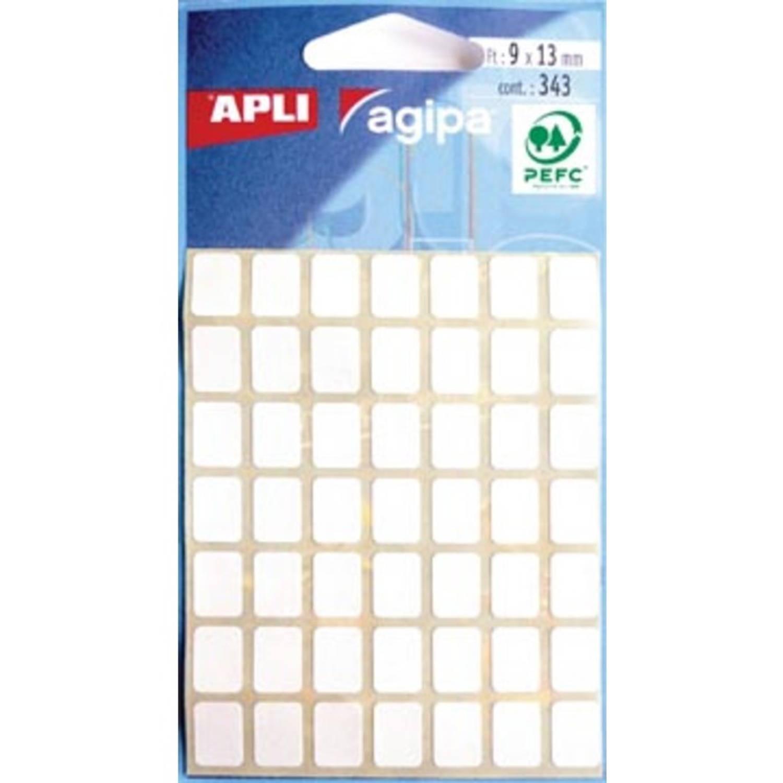 Korting Agipa Witte Etiketten In Etui Ft 9 X 13 Mm (B X H), 343 Stuks, 49 Per Blad