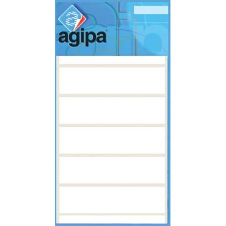 Korting Agipa Witte Etiketten In Etui Ft 12 X 18 Mm (B X H), 210 Stuks, 30 Per Blad