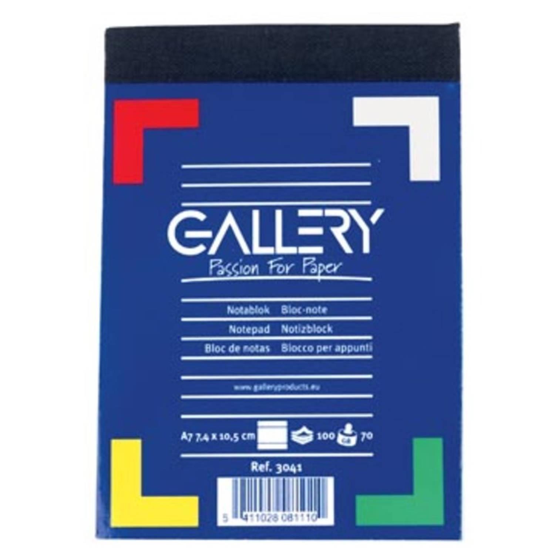 Korting Gallery Notitieblok, Ft A7, Gelijnd, Blok Van 100 Vel
