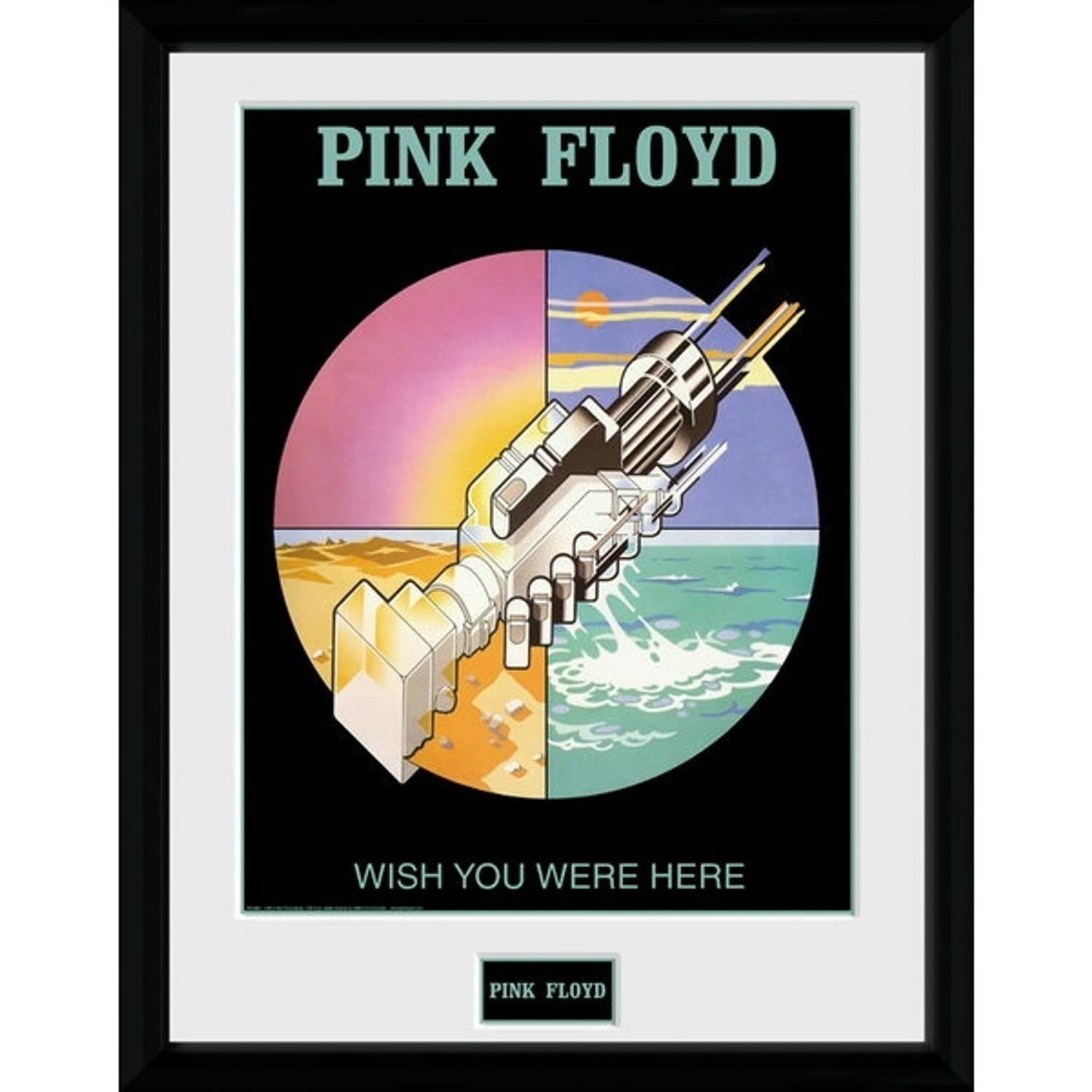 Gb Eye Poster In Lijst Pink Floyd Wish You Were Here 30 X 40 Cm