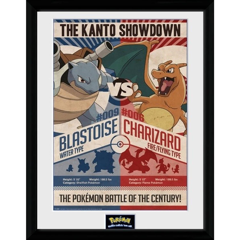GB Eye poster in lijst Pokemon Red vs Blue 30 x 40 cm