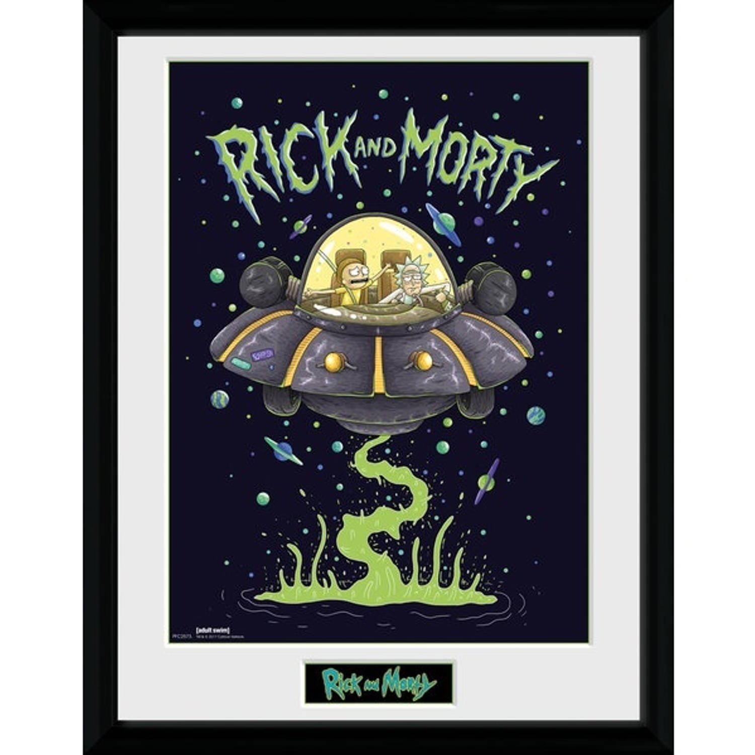 Gb Eye Poster In Lijst Rick And Morty Ship 30 X 40 Cm