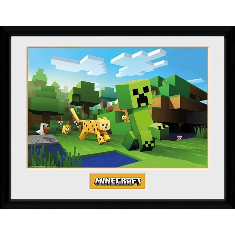 GB Eye poster in lijst Minecraft Ocelot Chase 30 x 40 cm