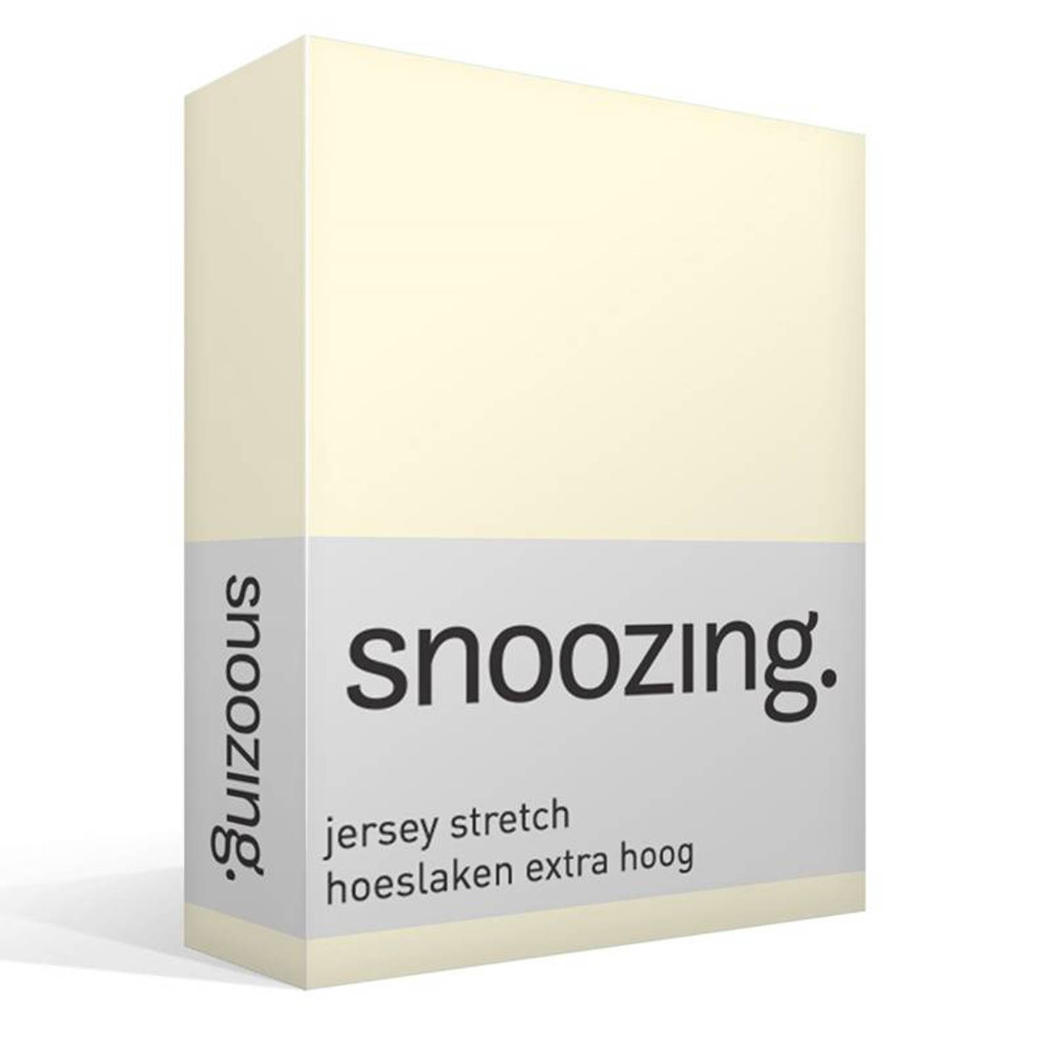 Snoozing jersey stretch hoeslaken extra hoog Lits jumeaux (160 180x200 220 cm)