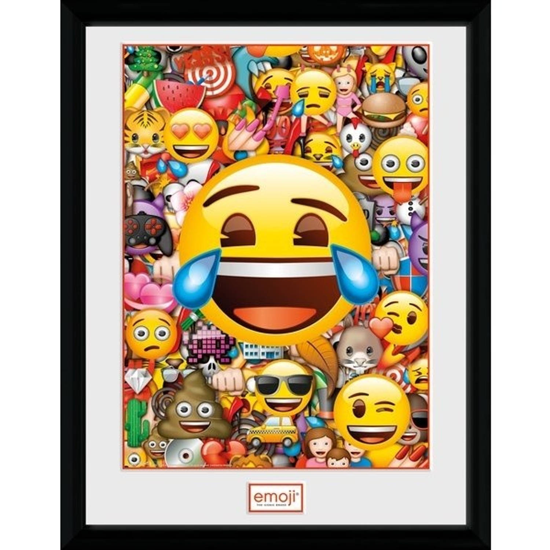 GB Eye poster in lijst Emoji Collage 30 x 40 cm