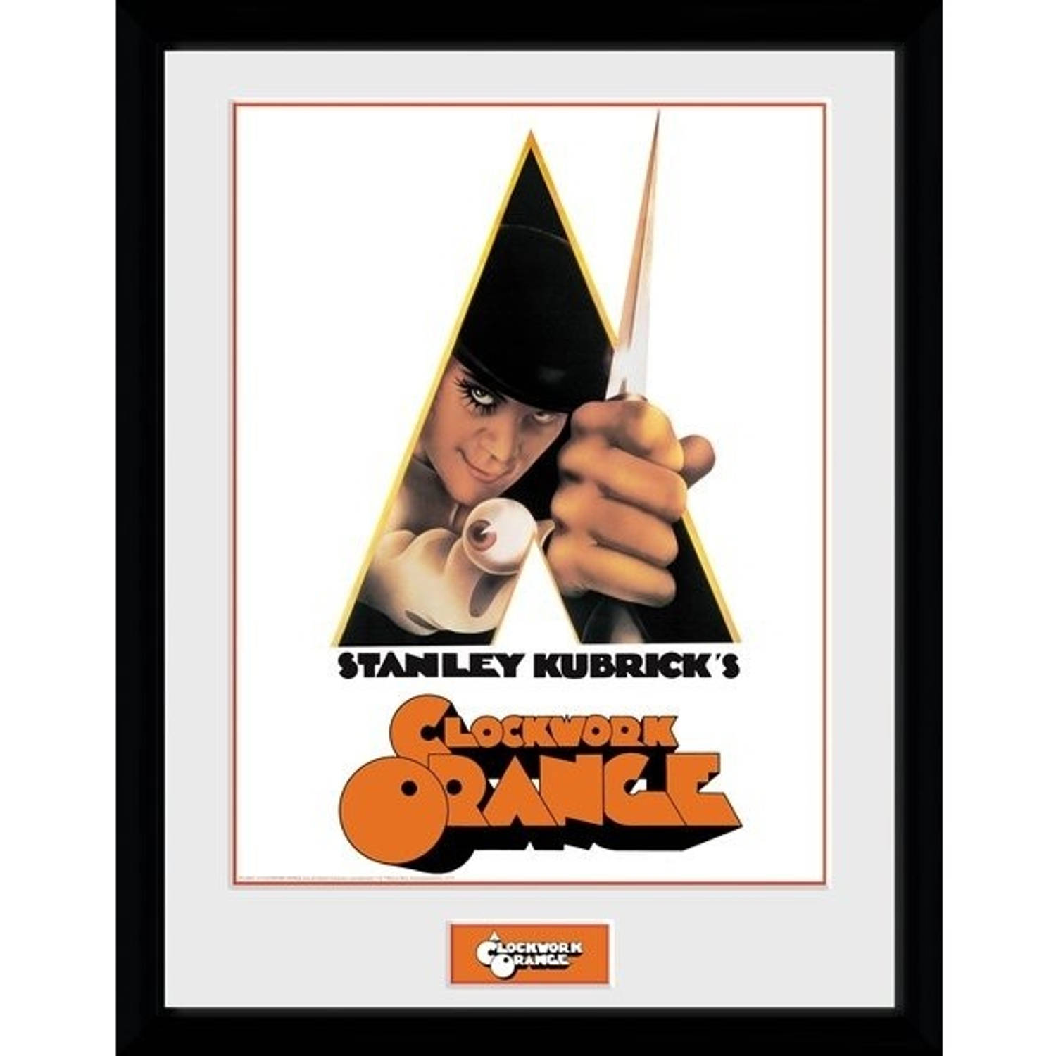 GB Eye poster in lijst Clockwork Orange Key Art 30 x 40 cm