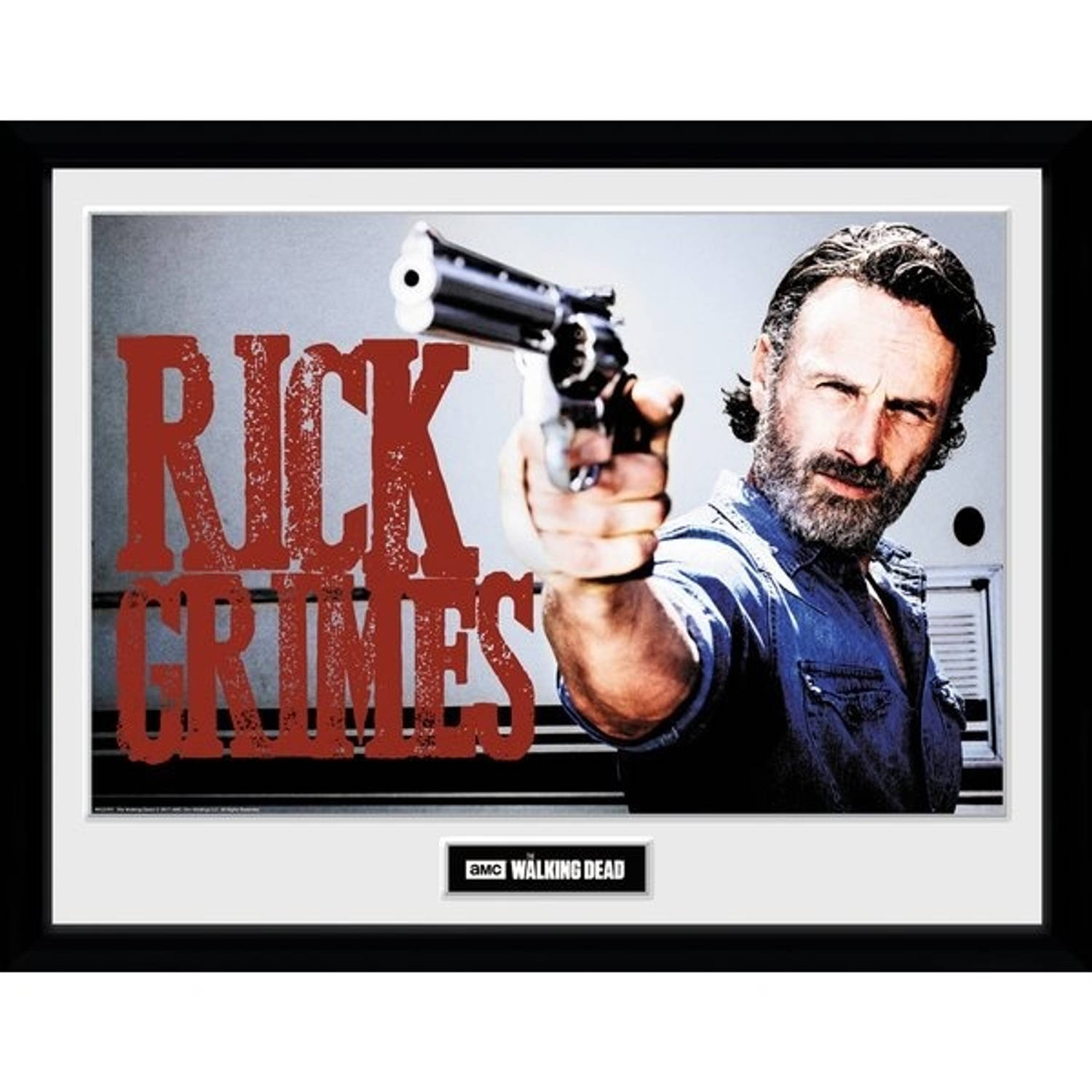 Gb Eye Poster In Lijst The Walking Dead Rick Grimes 30 X 40 Cm
