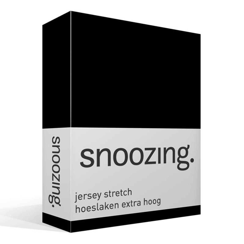 Snoozing jersey stretch hoeslaken extra hoog - Lits-jumeaux (160/180x200/220 cm)