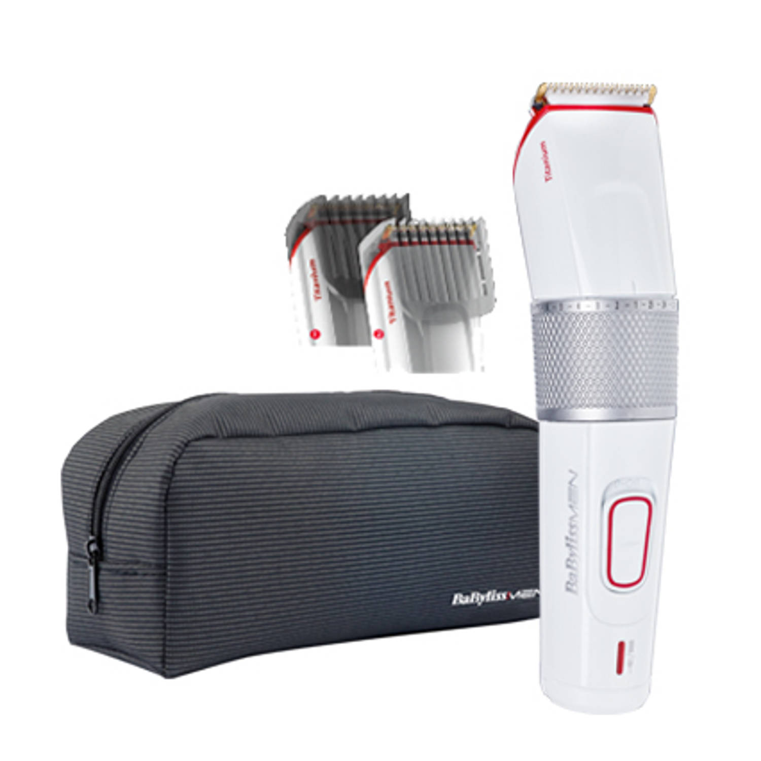 BaByliss For Men tondeuse en baardtrimmer In Control Titanium E971E