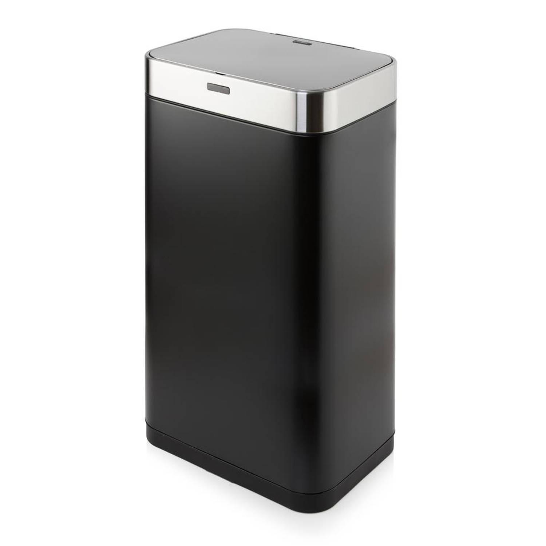 Tower Sensor prullenbak - rechthoekig - 75 liter - zwart