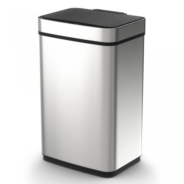 Tower Sensor Pro prullenbak - 60 liter - zilverkleurig