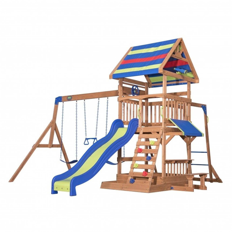 Afbeelding van Backyard Discovery speelhuis Northbook 430 x 439 x 300 cm blank