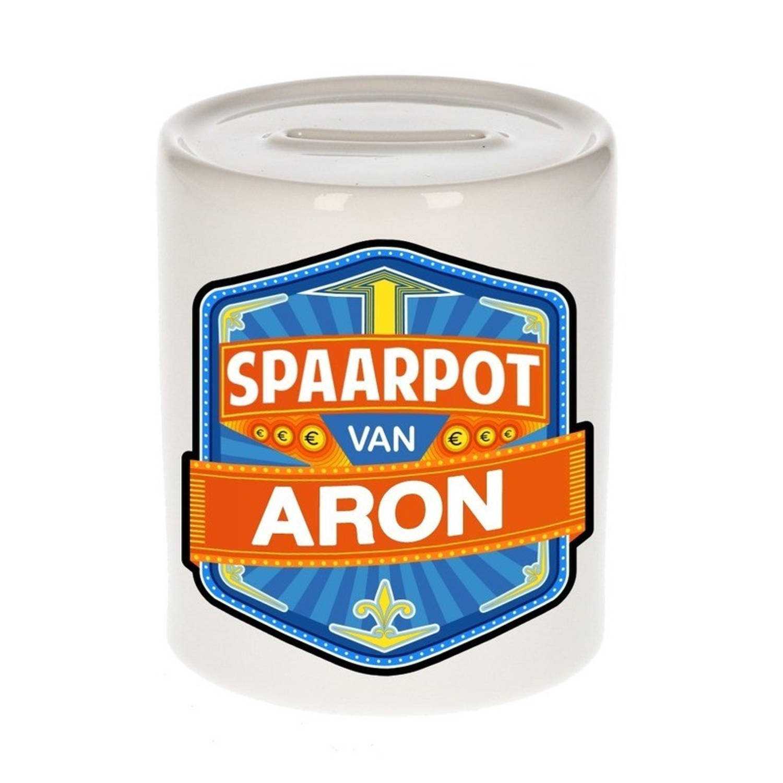 Kinder spaarpot voor Aron - keramiek - naam spaarpotten