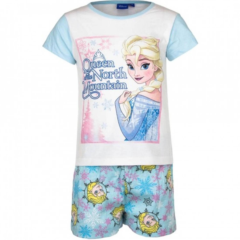 Frozen korte pyjama blauw/wit voor kinderen 128