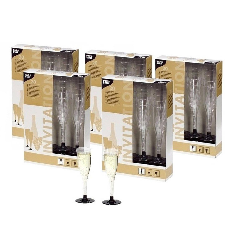 Korting Plastic Champagne Glazen 100 Stuks