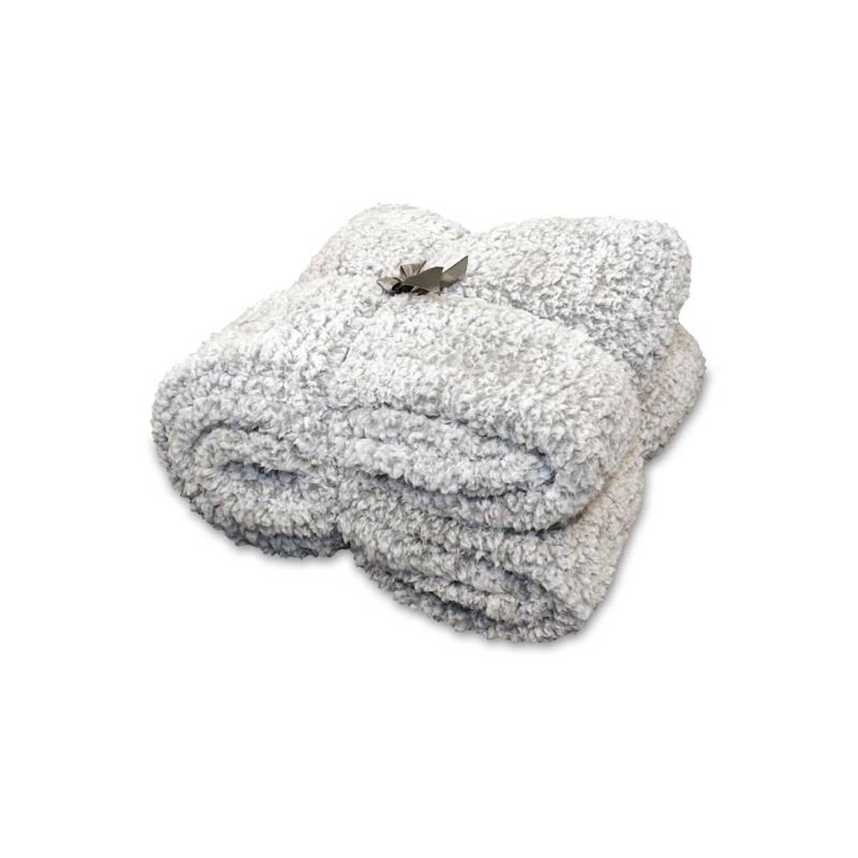 Unique Living Knut fleece plaid - 100% polyester, Fleece polyester - 150x200 cm - Grijs