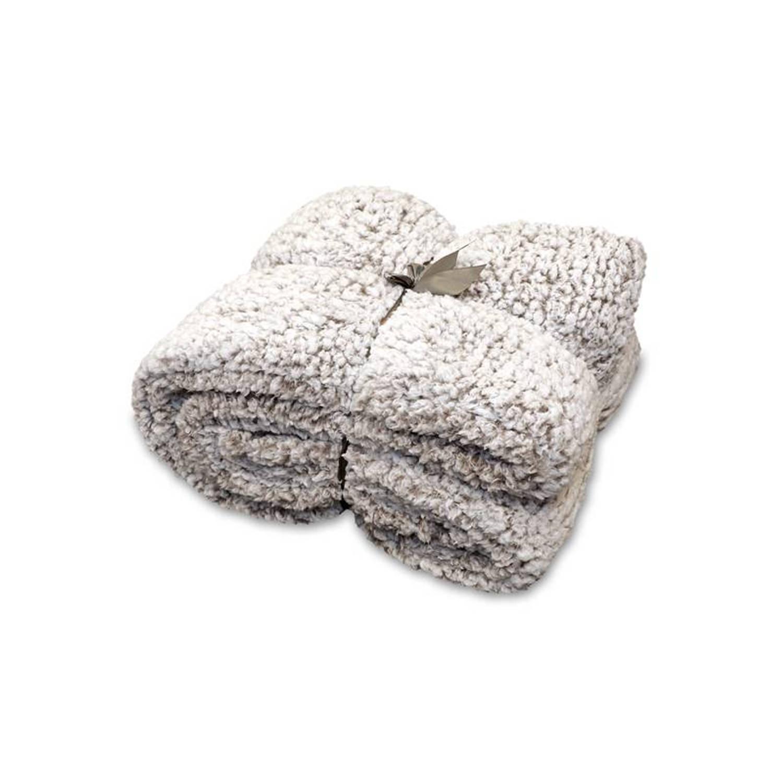 Unique Living Knut fleece plaid - 100% polyester, Fleece polyester - 150x200 cm - Taupe