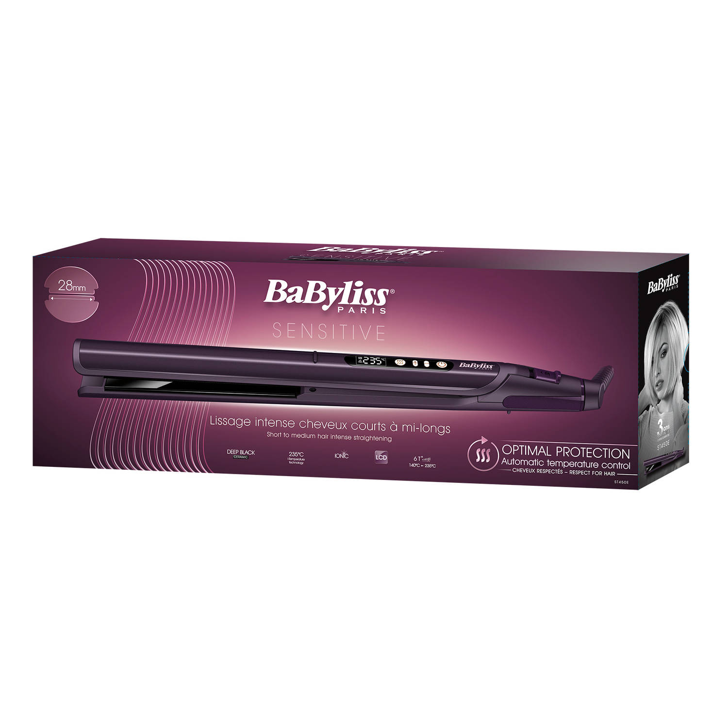 Image of BaByliss stijltang Sensor Protect ST450E