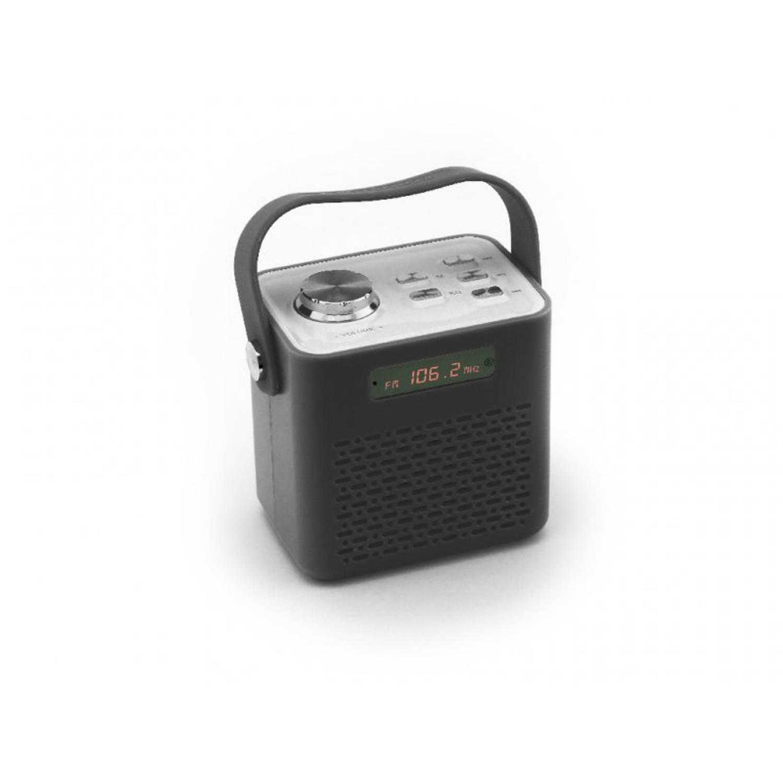Caliber HPG331BT Draagbare radio met FM, Bluetooth, USB en micro SD poort - Zwart