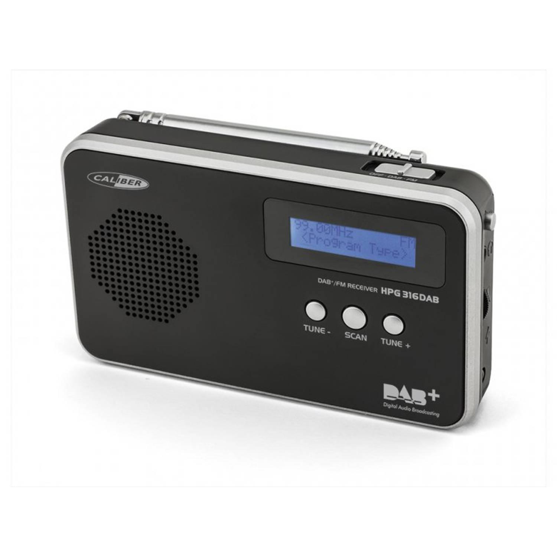 Calibar HPG316DAB/B Draagbare FM / DAB+ radio met ingebouwde batterij - Zwart