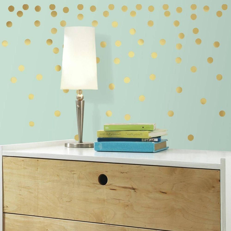Muursticker RoomMates: Gold Dots
