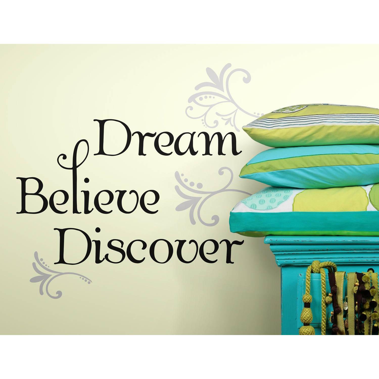 Muursticker Roommates - Dream Believe Discover Roommates