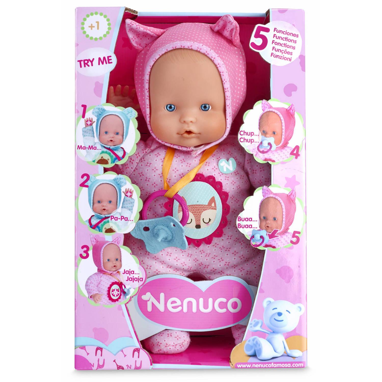 Nenuco soft babypop 30cm 5 functies roze