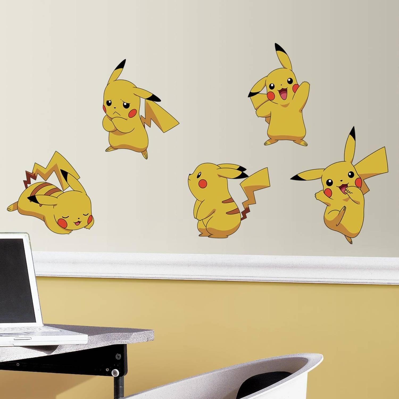 Muursticker Pokemon RoomMates Pikachu
