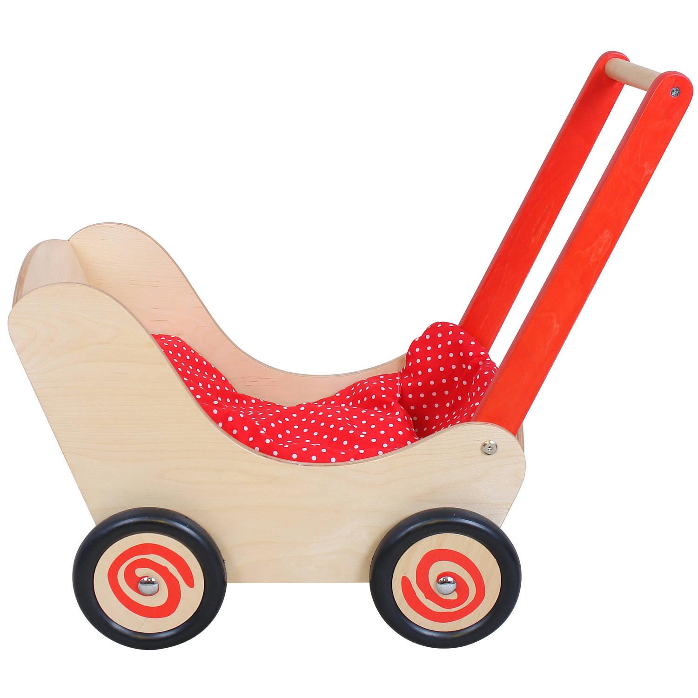 Simly for Kids Houten Poppenwagen Rood