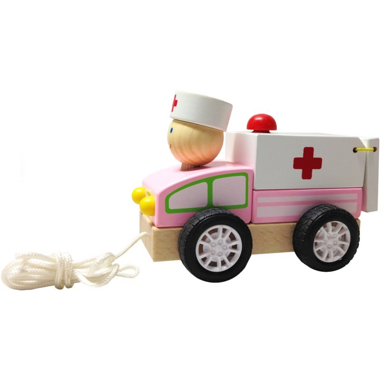 BuToys Houten Trekautootje - Dokter