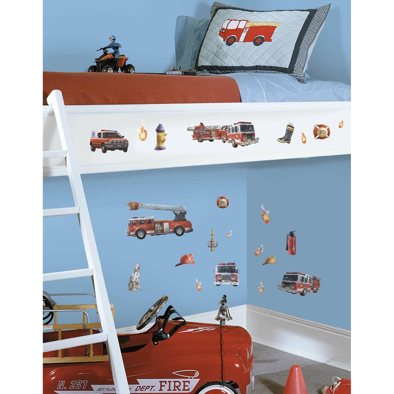 RoomMates muurstickers Brandweer