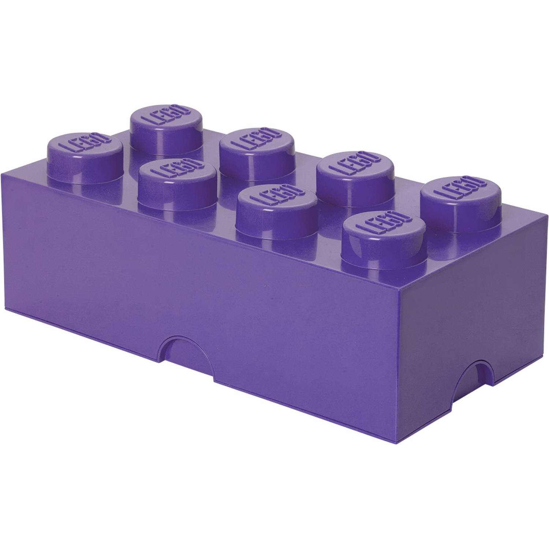 Opbergbox LEGO brick 8 lila