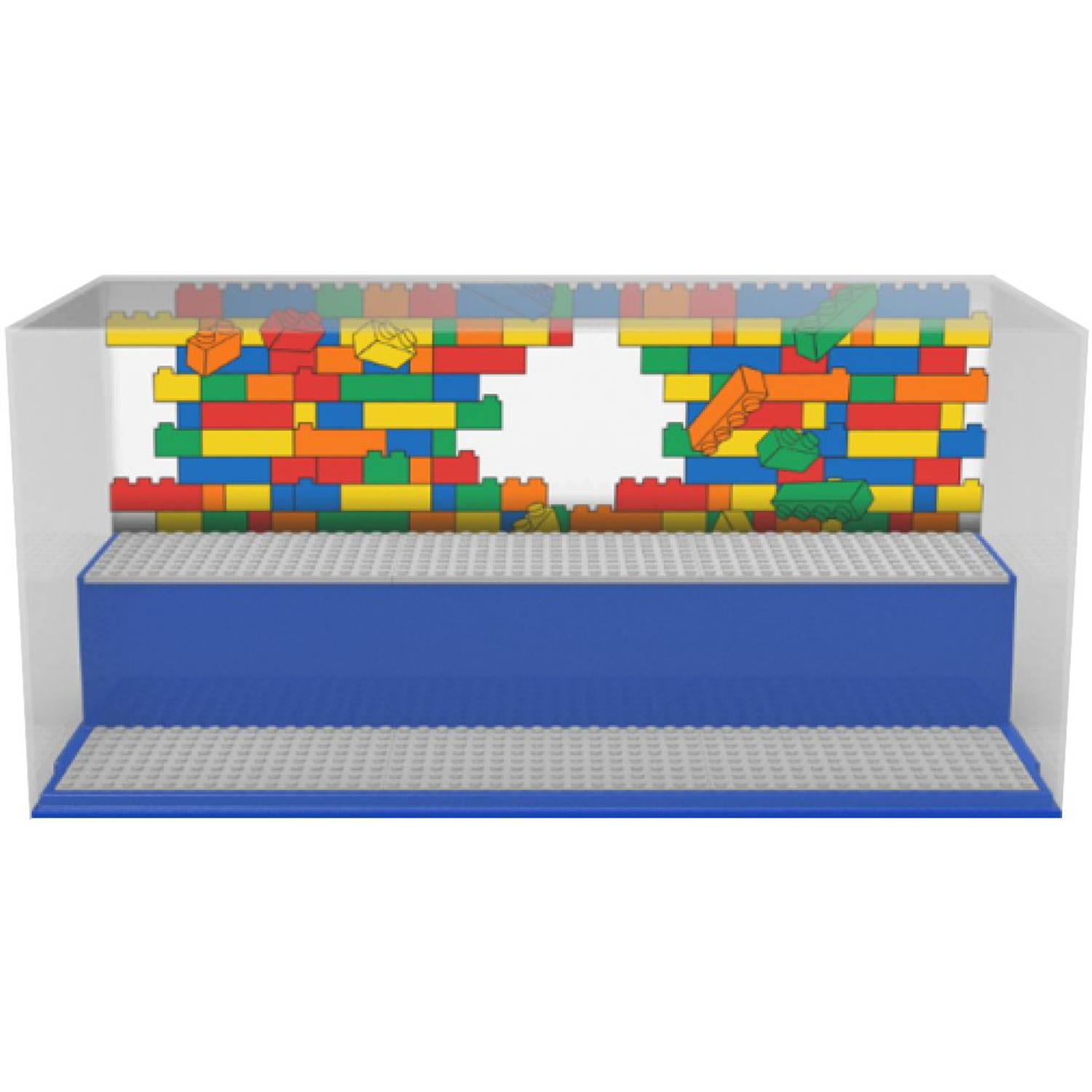 Opbergbox LEGO play & display blauw