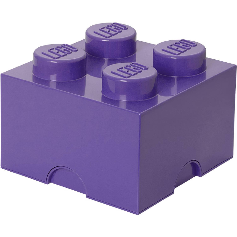 Opbergbox LEGO brick 4 lila