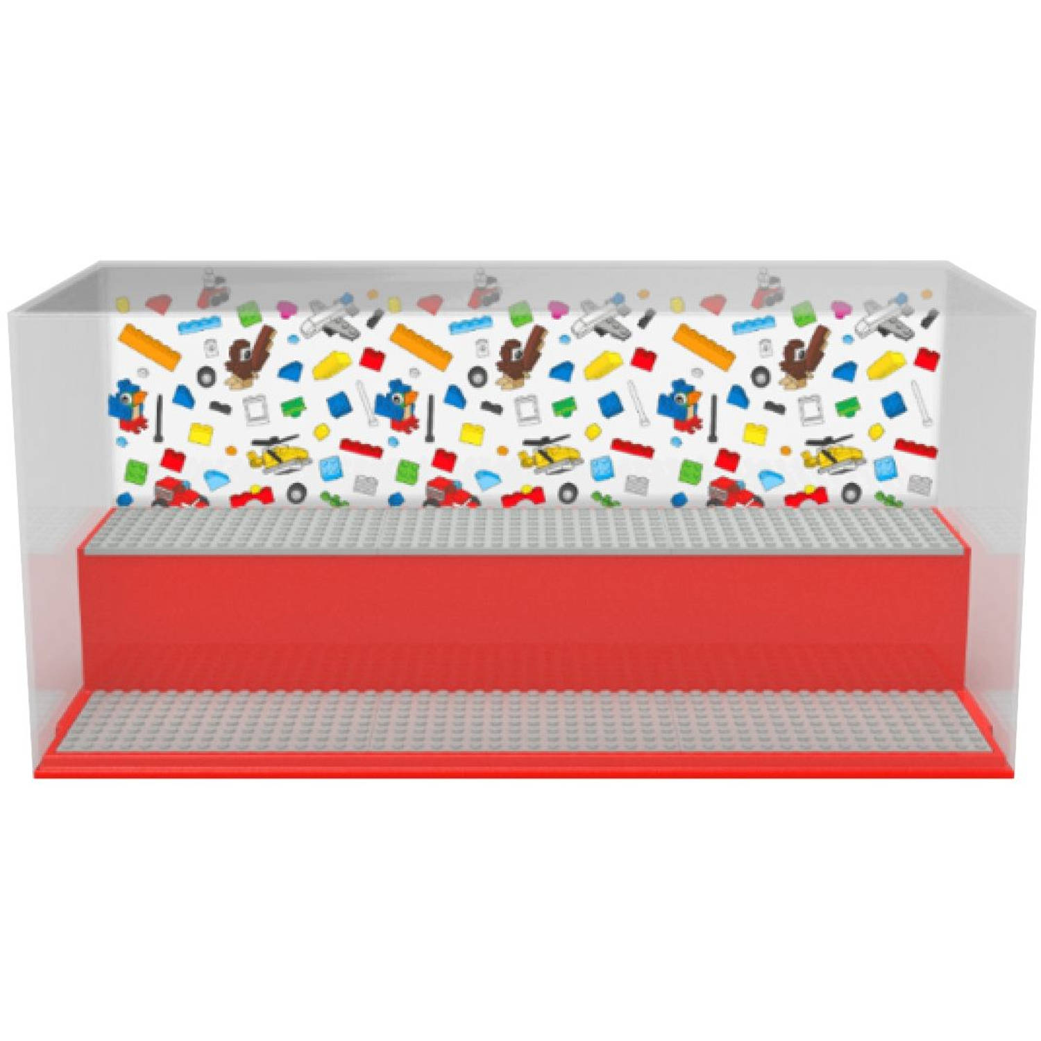 Opbergbox LEGO play & display rood