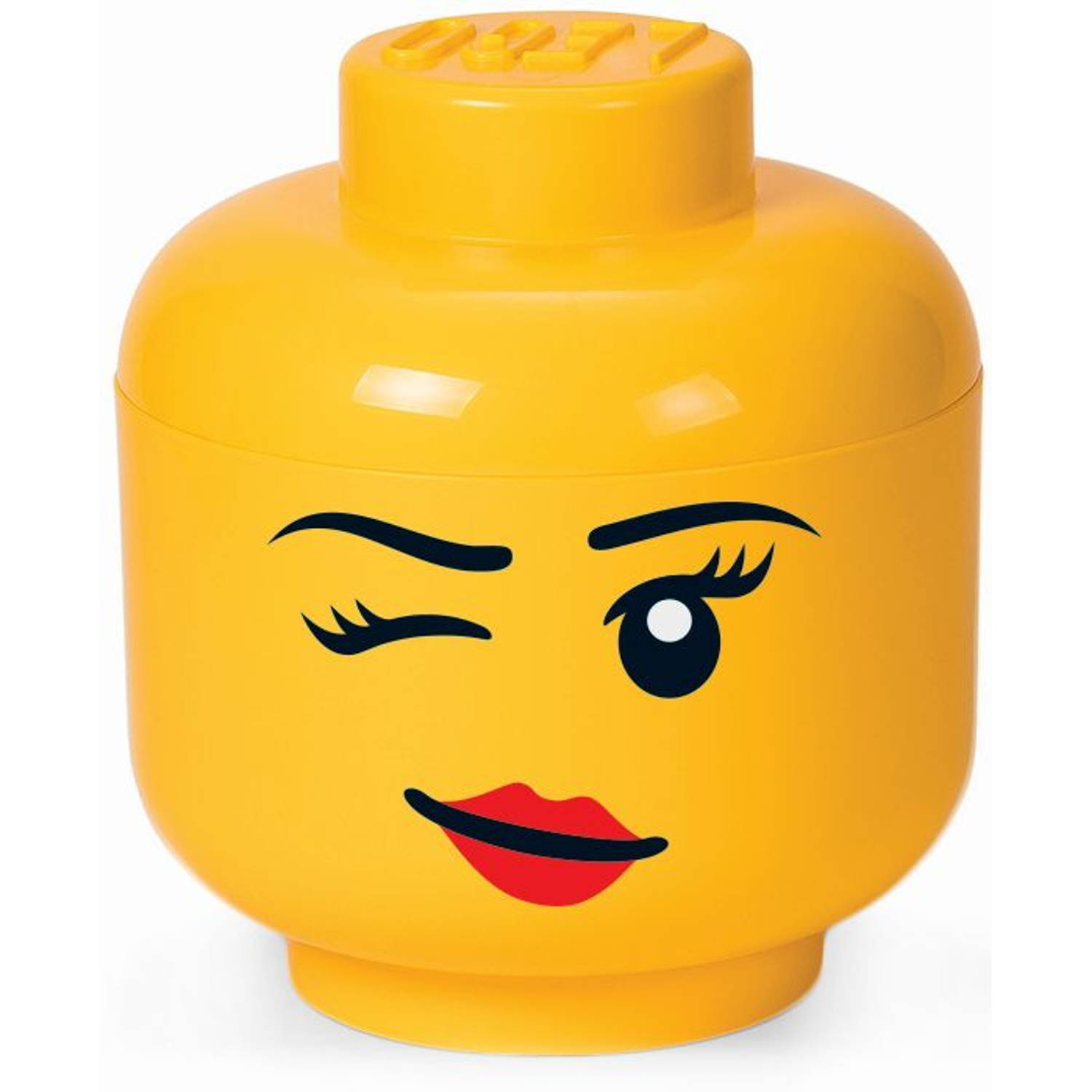 Opbergbox LEGO head girl winking large