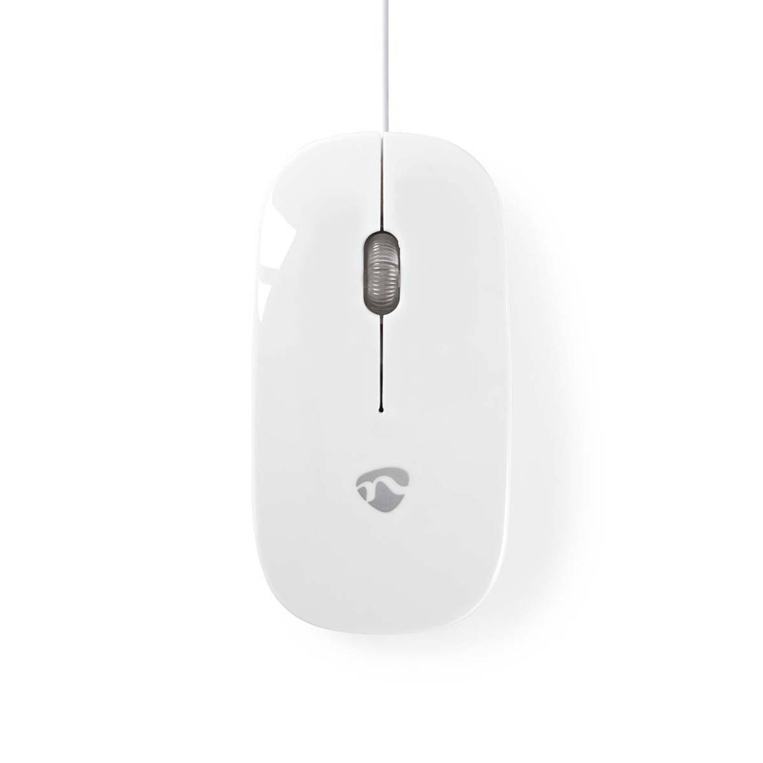 Nedis design 3 knops muis mouse wit