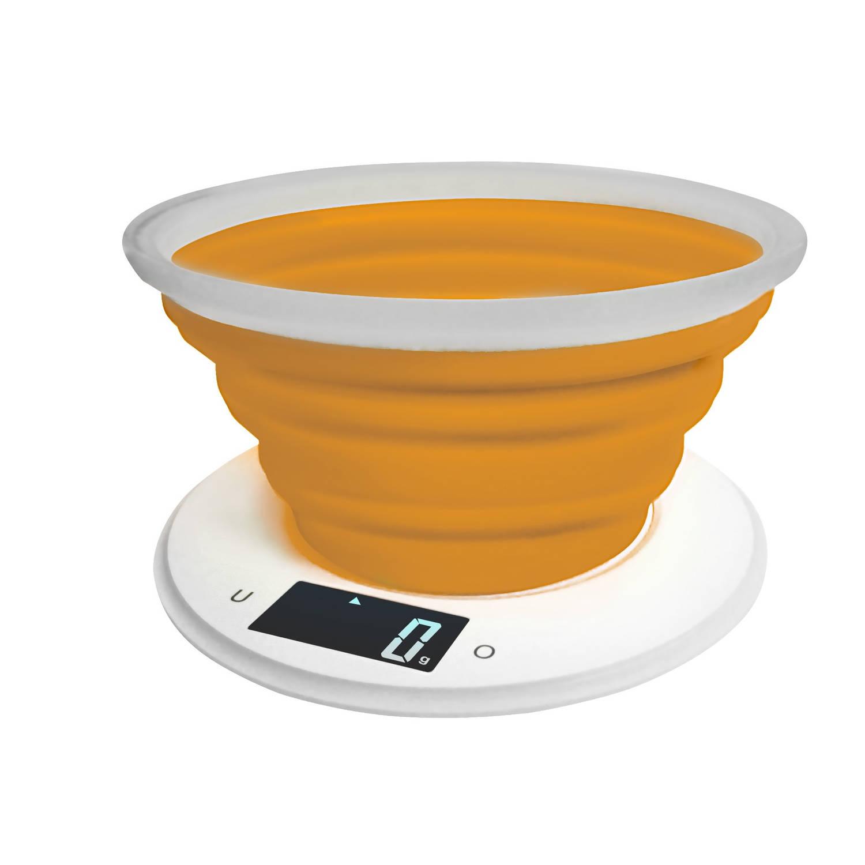 Adler AD 3153o Keukenweegschaal met siliconen kom - oranje