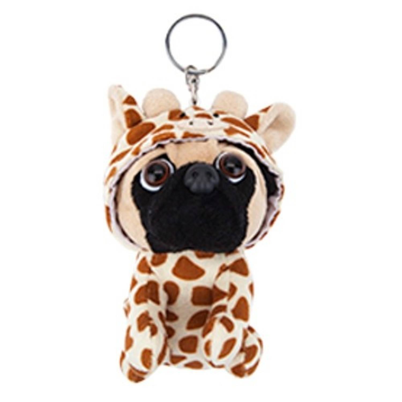 Kamparo knuffelsleutelhanger giraffe 11 cm bruin