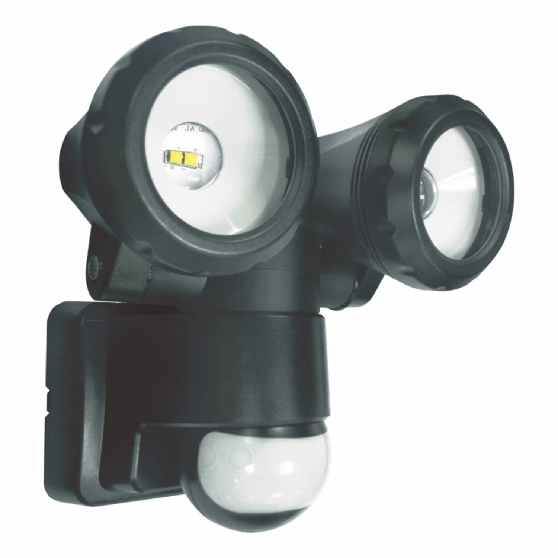 ELRO LT3505P 2-Kops LED Buitenlamp met Bewegingssensor - 2x5W 800LM - Zwart