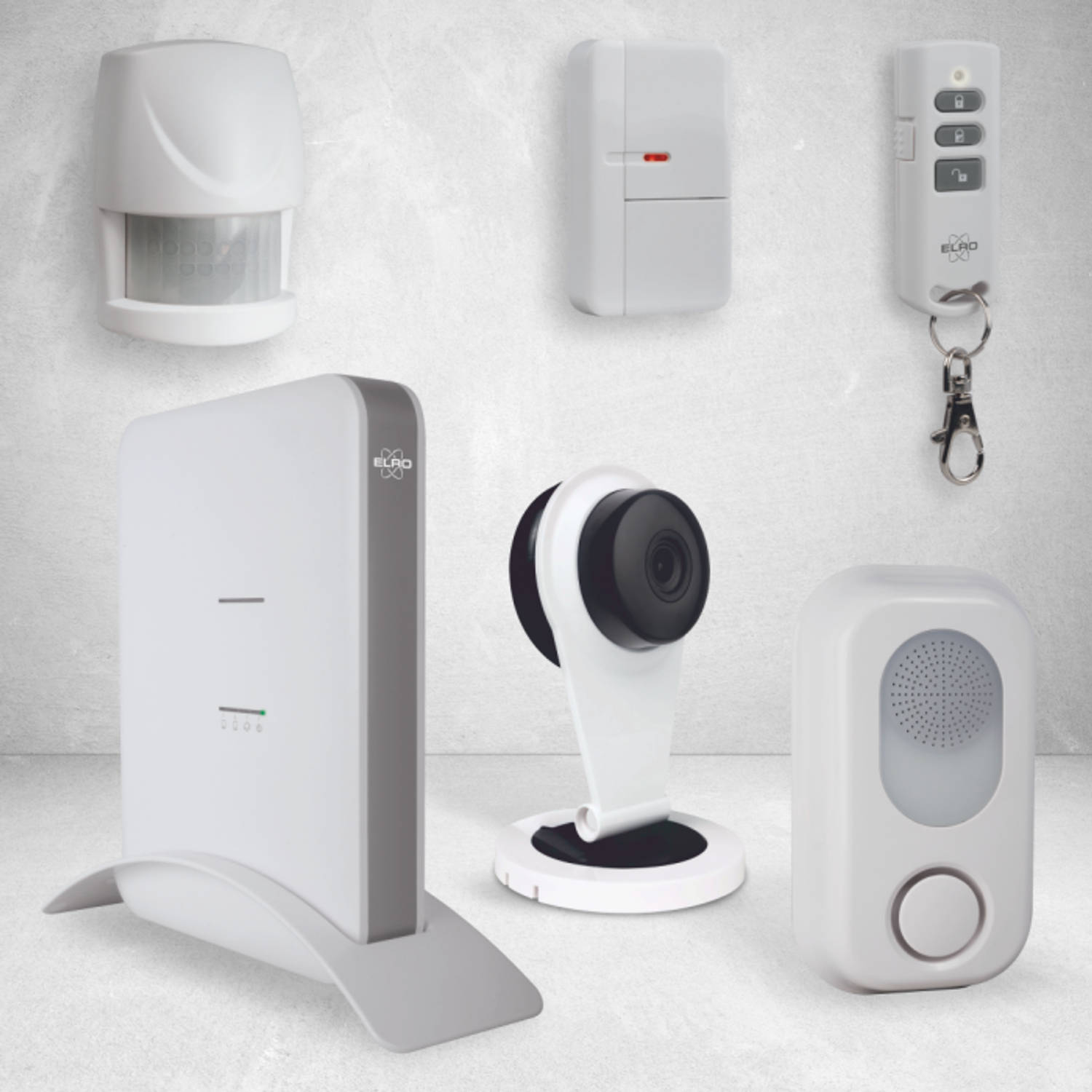 ELRO AS8000 Smart Home Compleet Alarmsysteem - Met 1080P HD Camera & App