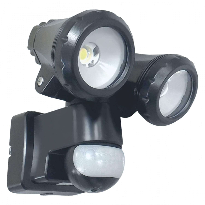 ELRO LT3510P 2-Kops LED Buitenlamp met Bewegingssensor - 2x10W 1550LM - Zwart