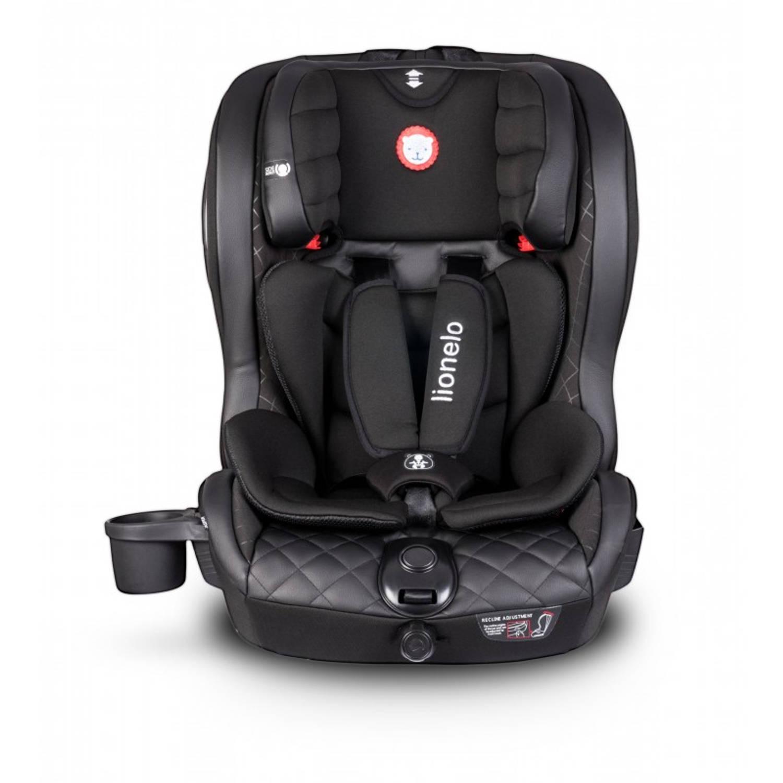 Lionelo LO-Jasper IsoFix Auto zitje 9-36kg met verkleiner en accessoires Zwart-Leer