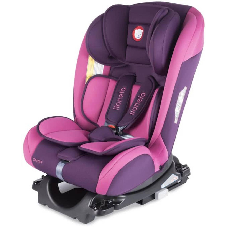 Lionelo Sander Autostoel 0-36kg Isofix (180 graden draaibaar) toptether met ligstand roze