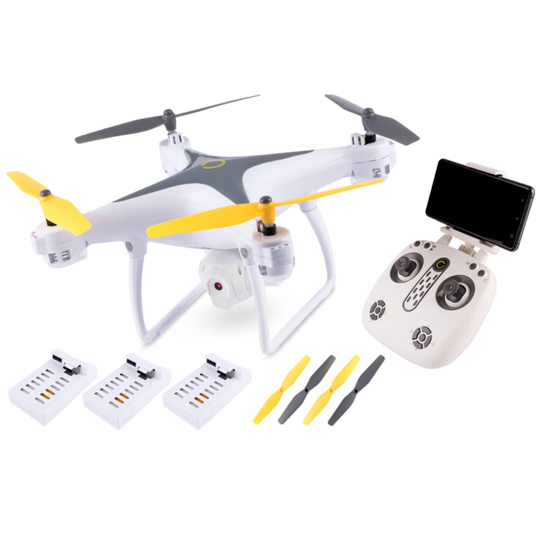 Overmax X-bee Drone 3.3 Wifi met Gimbal - incl 3 accu's - wit/grijs