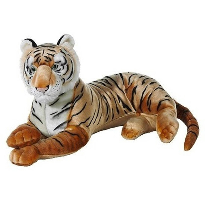 Grote bruine pluche tijger knuffel 70 cm