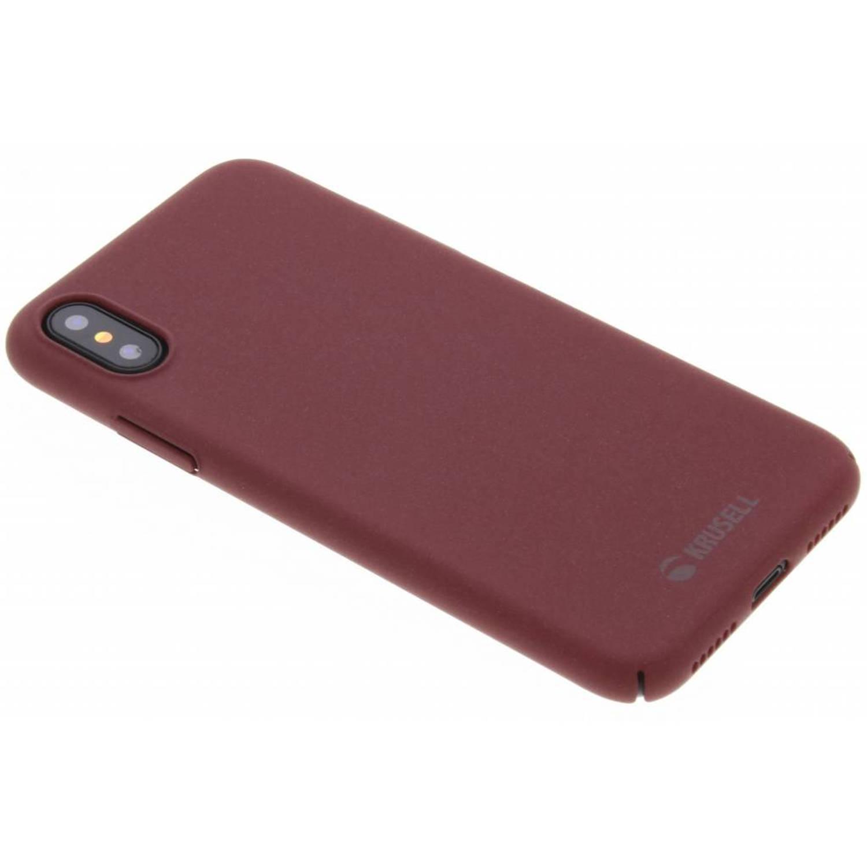 Rode Sandby Cover voor de iPhone Xs / X