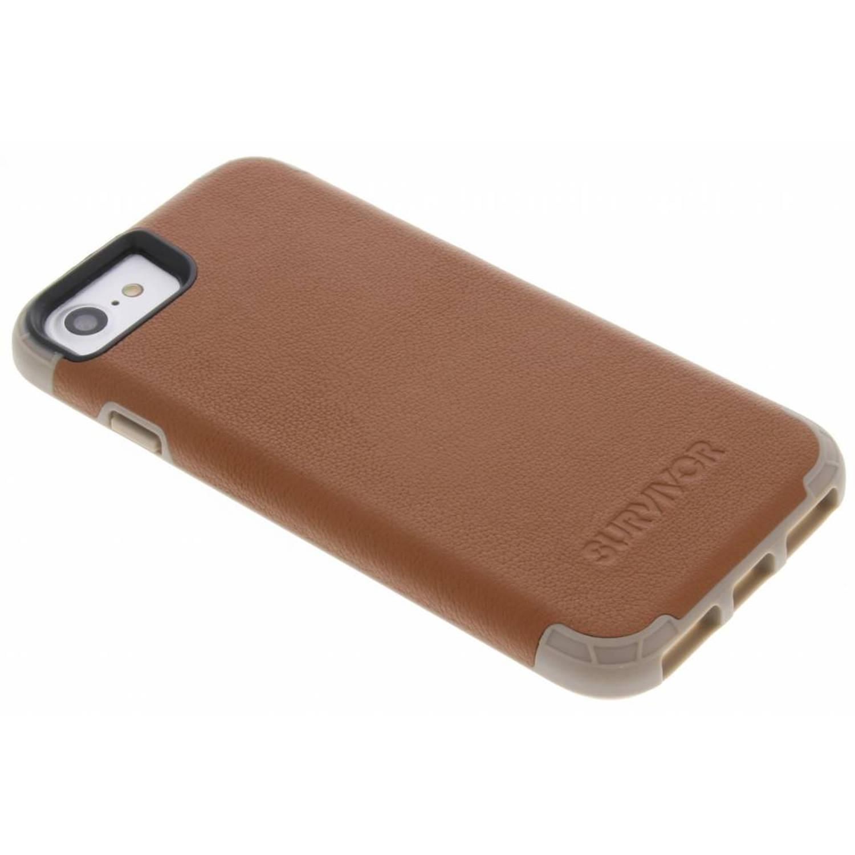 Bruine Survivor Prime Leather Case voor de iPhone 8 / 7 / 6s / 6