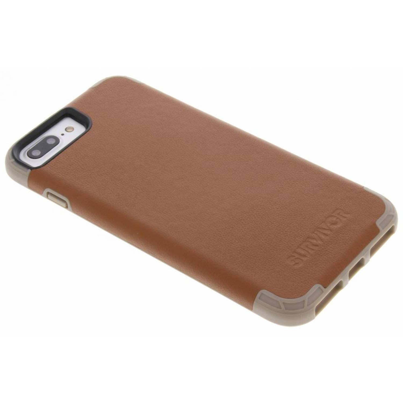 Bruine Survivor Prime Leather Case voor de iPhone 8 Plus / 7 Plus / 6(s) Plus